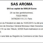 Modèle d'annonce légale pour la nomination du Directeur Général d'une SAS ou d'une SASU